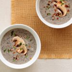 Cream of Mushroom Soup recipe with apple cider and fresh thyme