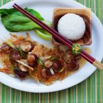 egg foo young full plate set up