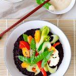 shabu style veggie black rice recipe