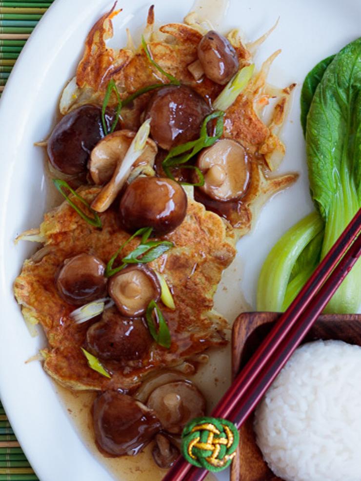 Vegan Egg Foo Young - No Tofu