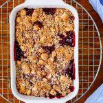 easy fruit crisp dessert for two blackberry.