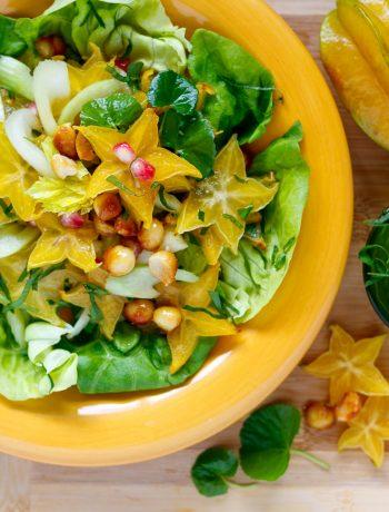 star fruit celery & gota kola salad