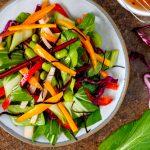 Sesame and ginger rainbow salad