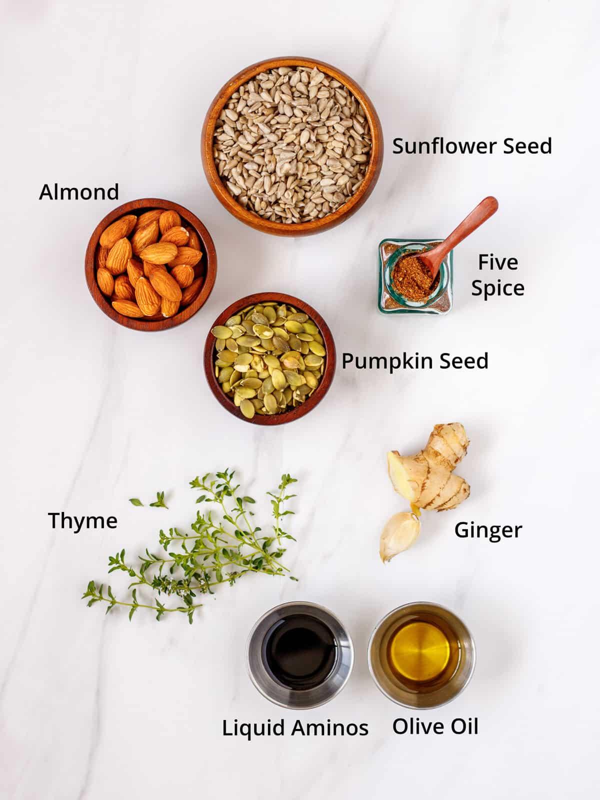 Ingredients for vegan pate.