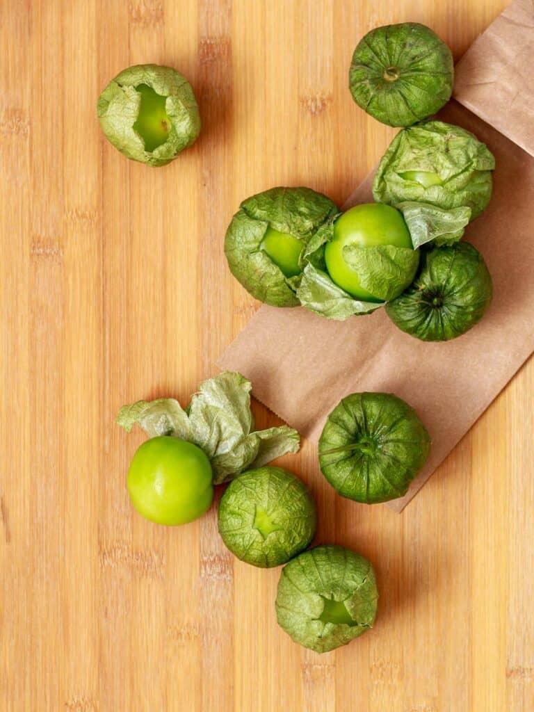 Tomatillos in husk.